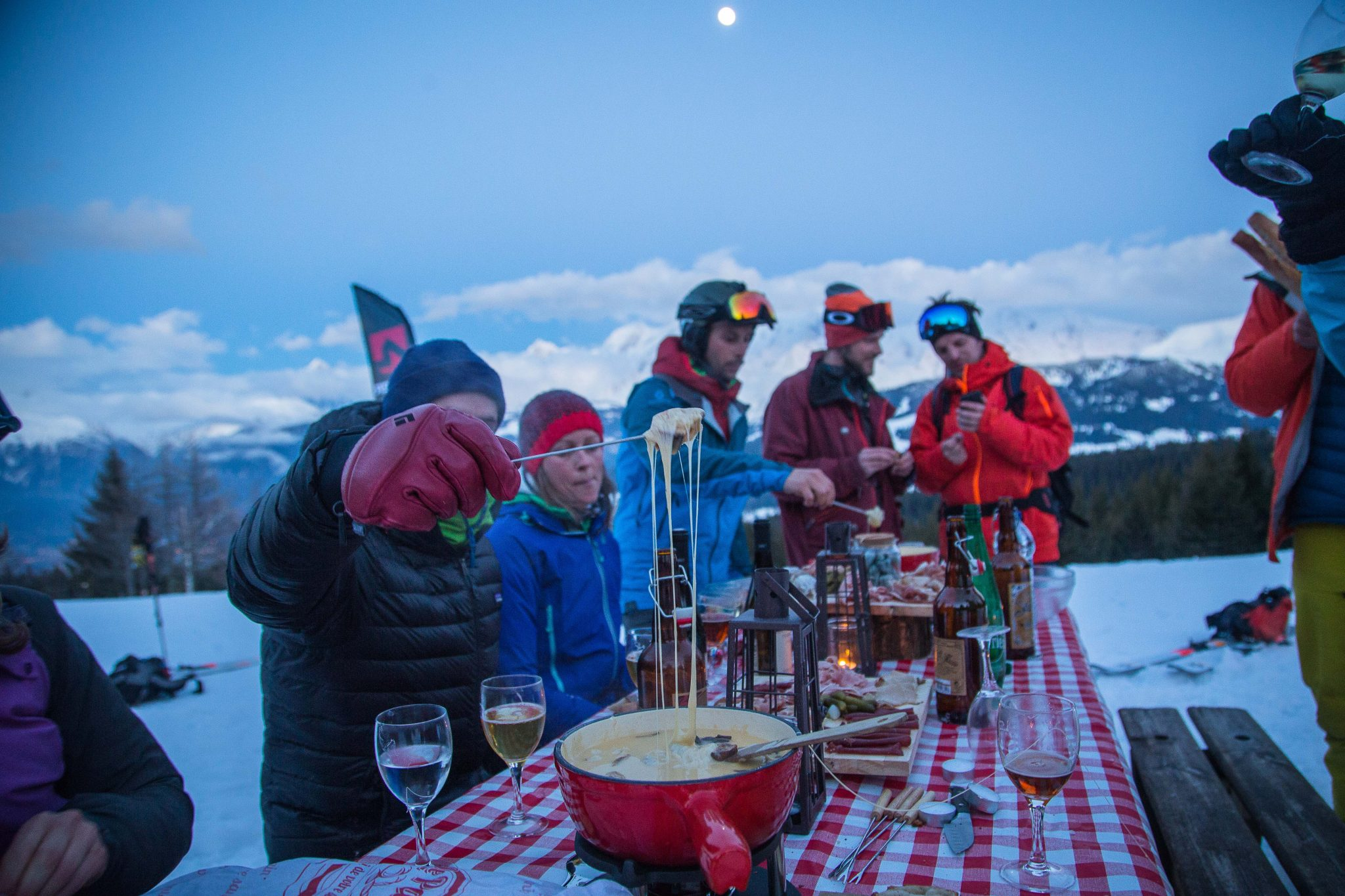 Afterwork Alpinist 2018 - Combloux-fondue full moon