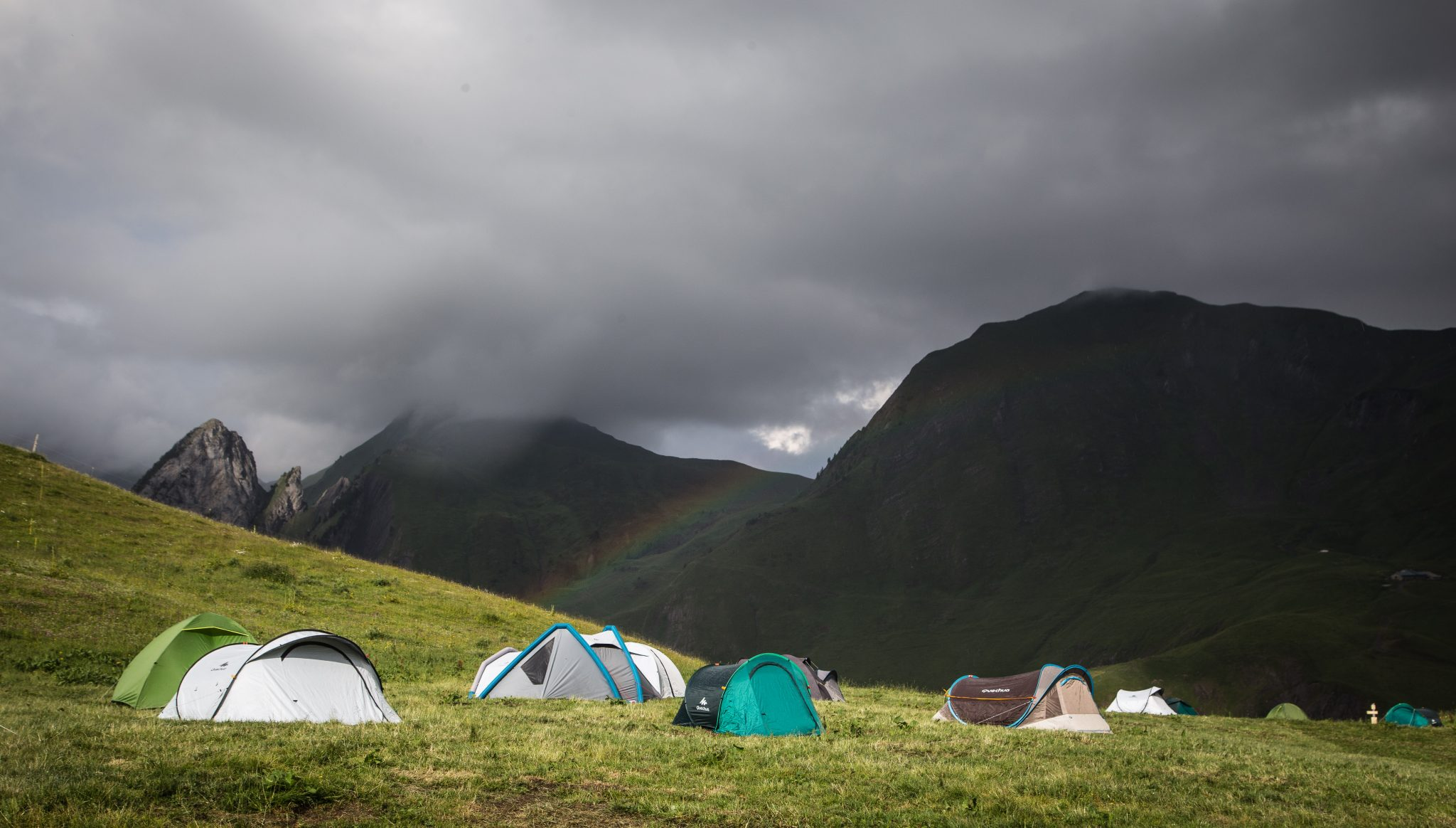 Bivouac over the rainbow